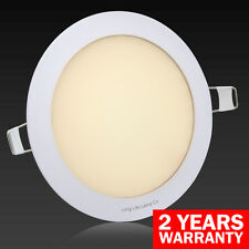 12W LED Round Recessed Ceiling Flat Panel Down Light Ultra slim Warm White