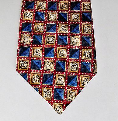 Burton Menswear tie check with floral motif Made in the UK