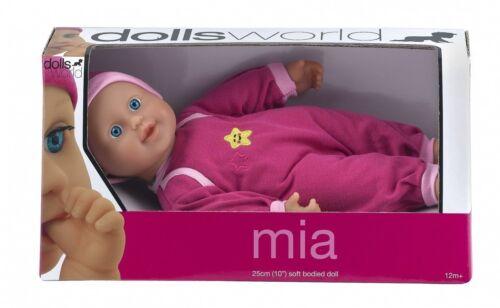 ** Nuovo Di Zecca ** dai 12+ mesi Bambole Mondo Soft corposo MIA Bambola