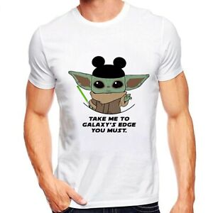 Star Wars Mandalorian Baby Yoda Take Me To Galaxy's Edge Unisex T-Shirt Fun Gift