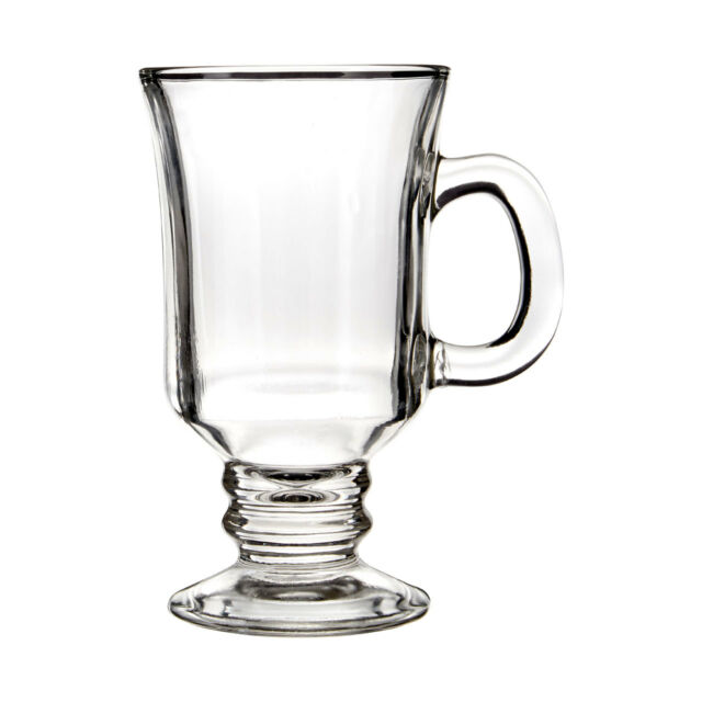Premier Housewares 1405262 Glass Irish Coffee Glasses Set Of 4 230ml X Latte
