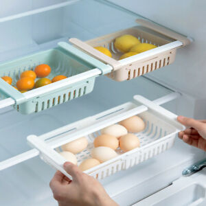 Adjustable-Refrigerator-Storage-Rack-Fridge-Drawer-Freezer-Shelf-Pull-out-Box