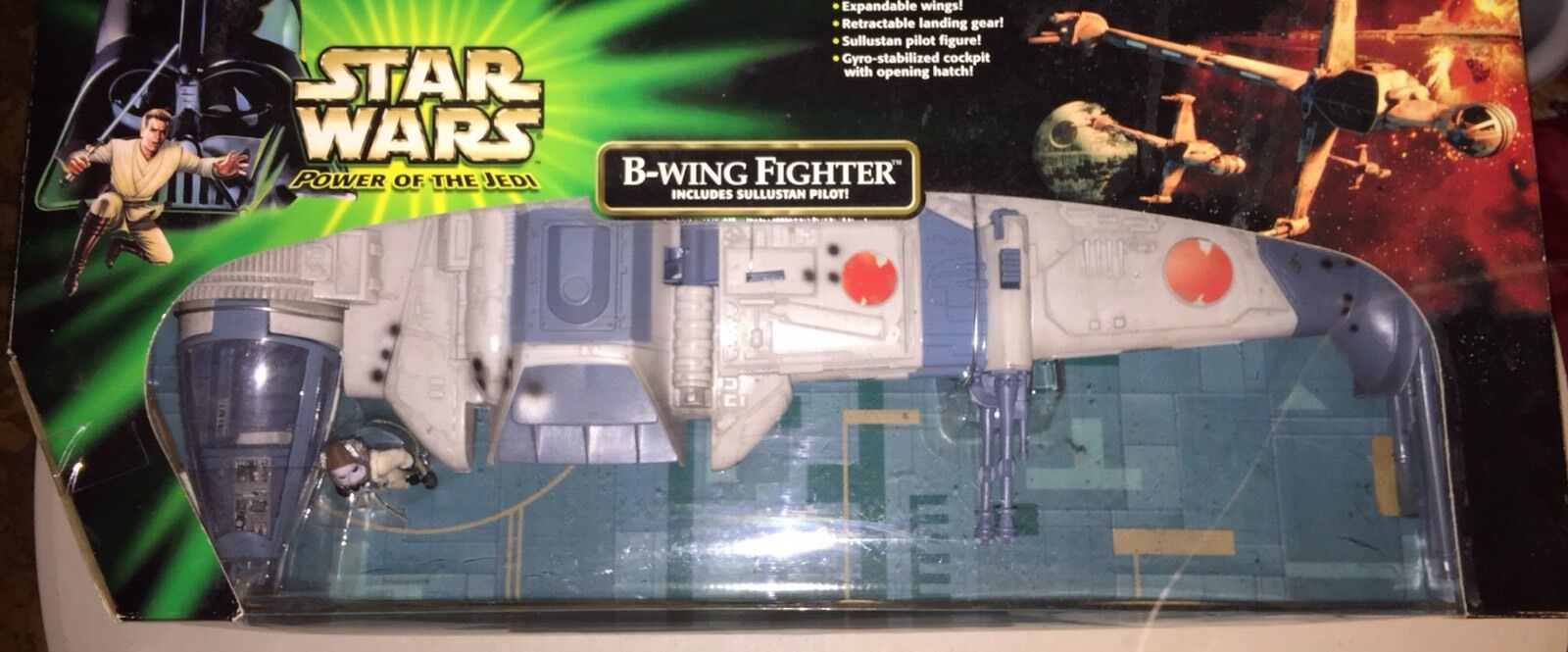 Star Wars 2001 The Power Of the Force B-Wing Fighter Sealed In Box