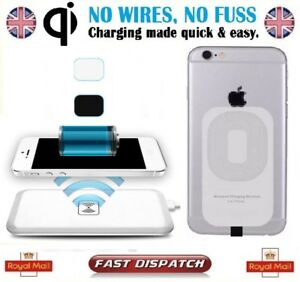 qi wireless charger charging pad receiver for iphone 7 7. Black Bedroom Furniture Sets. Home Design Ideas