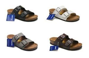 New-Birkenstock-Arizona-Birko-Flor-Slip-On-Cork-Sandal-Unisex-Shoes