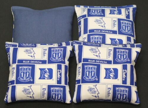 DUKE UNV 4 CORNHOLE BEAN BAGS ACA Regulation Blue Devils Game Toss Bags