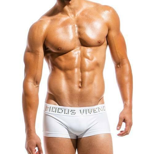 Modus Vivendi Swim Briefs Mens Swimsuit Mens Boxer Mens Swimwear White BS1821 36