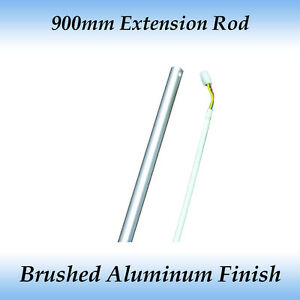 Fias 900mm Ceiling Fan Extension Rod Brushed Aluminum
