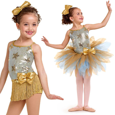 Dance Costume Small or Medium Adult Blue Sequin Lace Jazz Acro DUET Competition