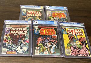 Marvel Comics Lot CGC GRADED Star Wars #1, #2, #3, #4, #68 HOLY GRAIL MUST SEE!!