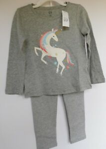 NWT-Gap-Baby-Toddler-Girl-039-s-2-Pc-Outfit-Unicorn-Sizes-4-amp-5-Yrs-MSRP-30-New