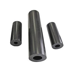 Lot of 25 LDPE Black Plastic Spacer Bushings