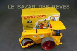 DINKY-TOYS-FRANCE-Rouleau-compresseur-RICHIER-REF-90A-Boite