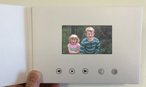 Recordable Video Greeting Card - 4 HD Screen - Blank Talking A5 256mb