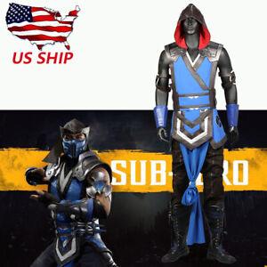 Sub-Zero Cosplay Costume Mortal Kombat 11 Mask Belt MK 11 Props Halloween Party