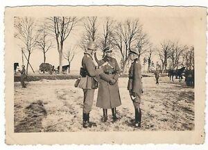 6-202-FOTO-SOLDATEN-WEHRMACHT-LAGEBESPRECHUNG-STAHLHELM-WINTER-BEFEHL-PFERD