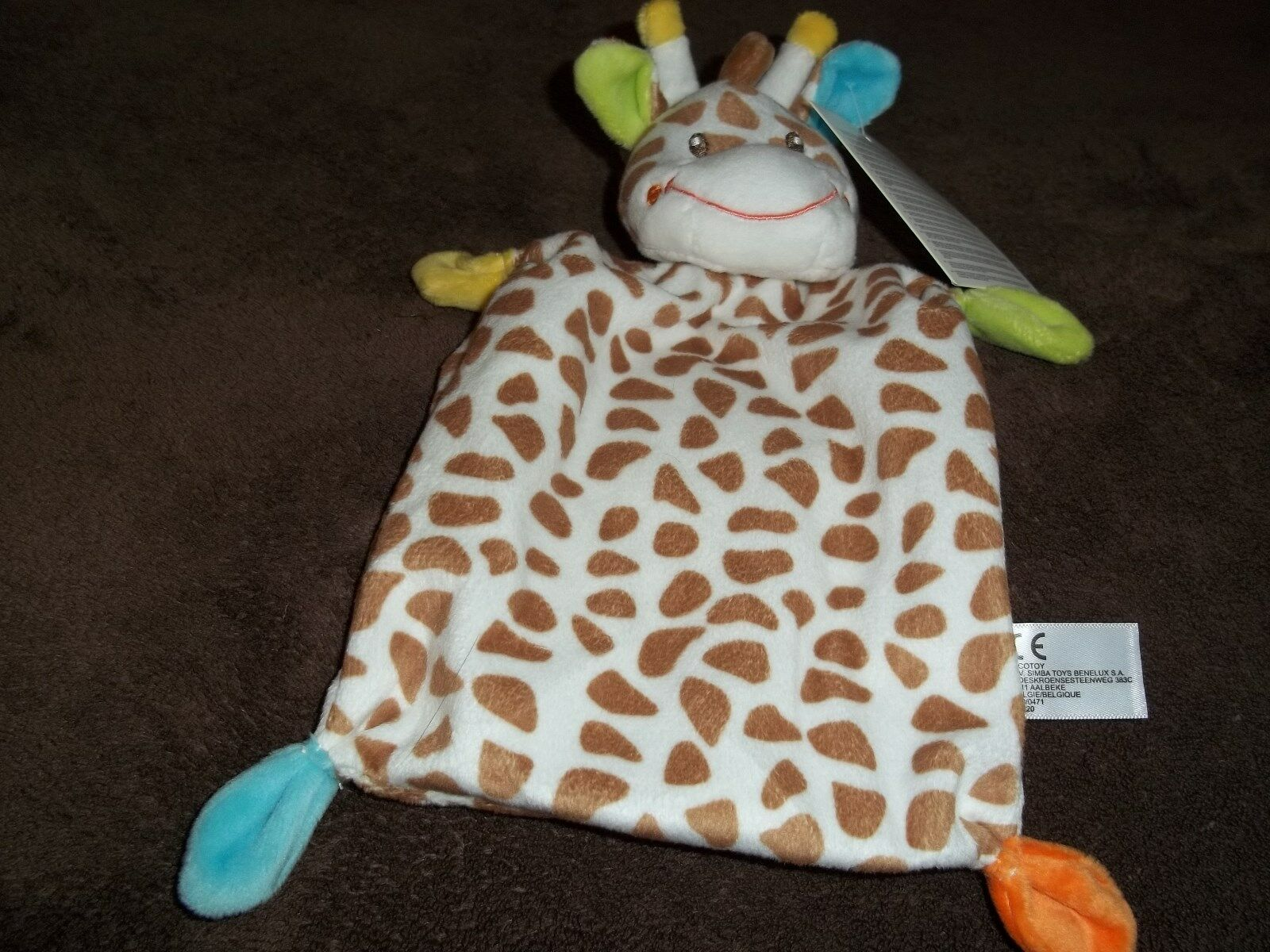 NICOTOY BY SIMBA TOYS GIRAFFE COMFORTER BRAND NEW WITH TAG