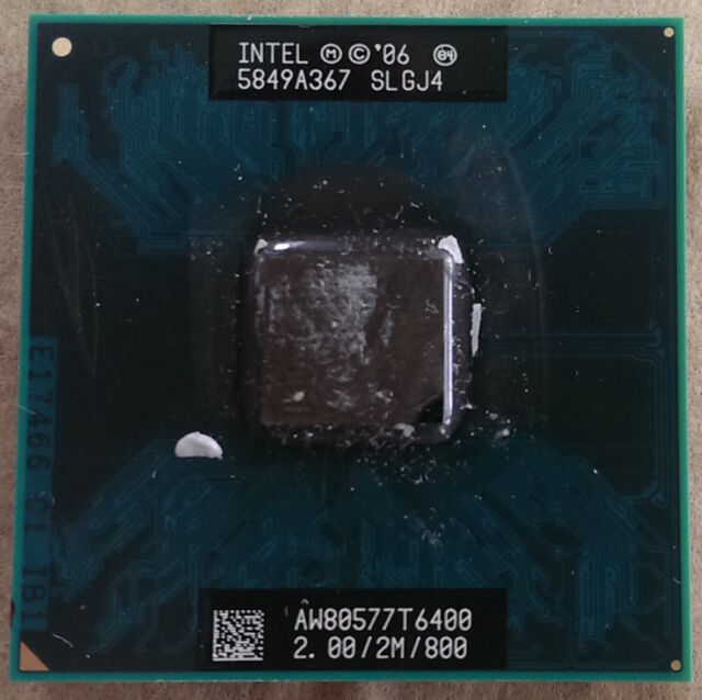 Intel Core 2 Duo T6400 2 GHz Dual-Core AW80577GG0412MA SLGJ4 Processor