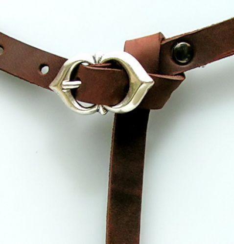 Spätmittelalter Belt 1,5 Cm Larp Reenactment Clothing - New