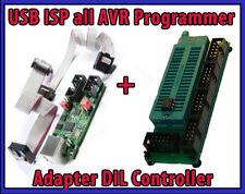 Sparset USB ISP für all AVR Programmer Atmel RISC + Adapter DIL Controller Xmega