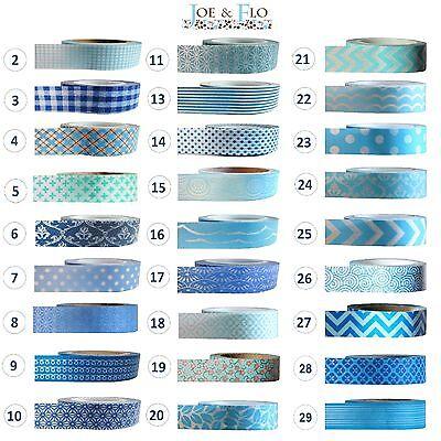 Washi Tape Masking Tape Gift and Craft Tape - BLUE