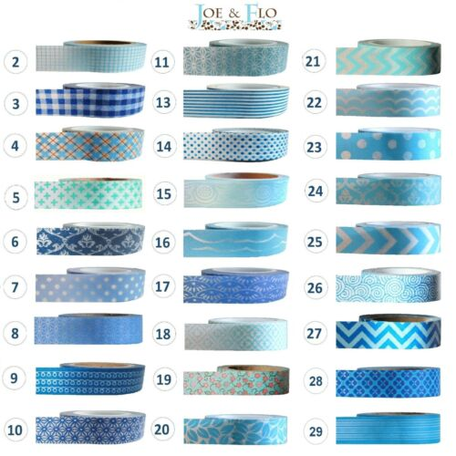 Washi bande ruban cadeau et engins Bande-Bleu