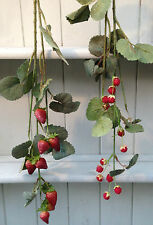 Artificial Strawberry and Raspberry Stem Very Realistic 1 of ea. £9.99