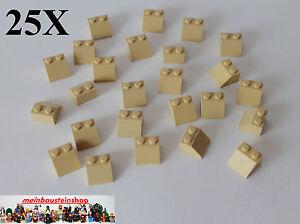 25X Lego® 3062 Basic runde Steine Round Bricks 1X1 Beige Tan NEU