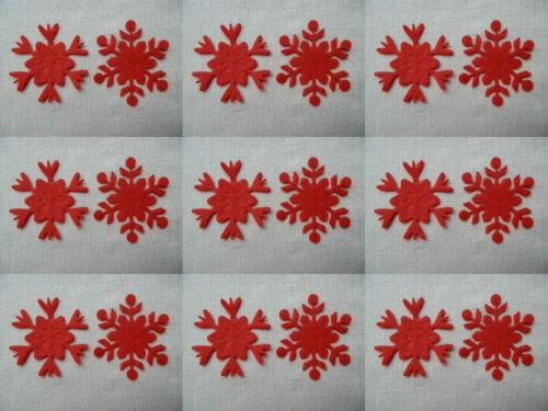 Varios Colores Fieltro X12 Copos De Nieve 5 Cm Die Cut Adornos Navideños Los Apliques De..