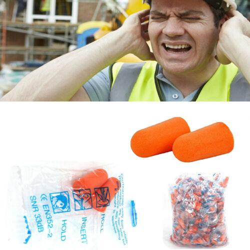 NEW 200 Pairs Orange EarPlugs Soft Foam Value Individually Wrapped NRR 32DB