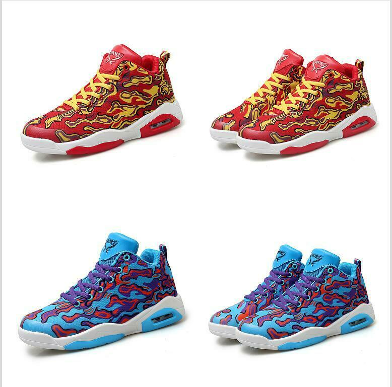 Men's Fashion Dance Bash High Top Basketball Sneaker Round Toe Comfort shoes New