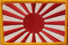 JAPAN FLAG Iron-On Patch Japanese Empire Rising Sun Emblem Gold Border