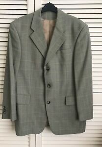 Austin Reed Jacket 38s Grey Dog Tooth Fine Wool Superior Quality 3 Button Ebay