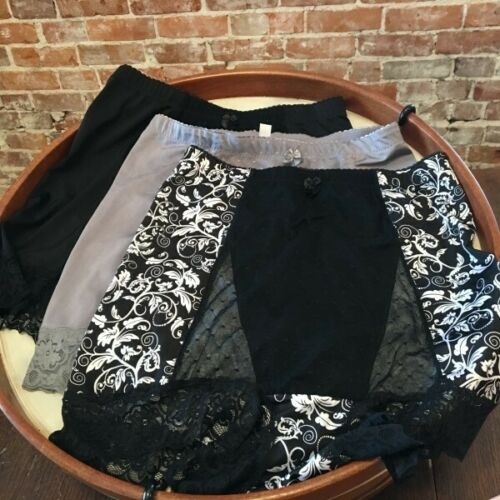 Rhonda Shear Set of 3 Diva Mix Mesh Dot Pin-Up Retro High Waist Panties New