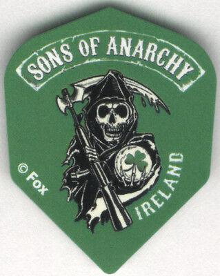 SONS OF ANARCHY Irish Shamrock Dart Flights: 3 per set