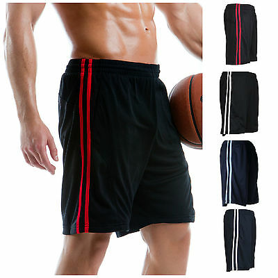 Mens Casual Active Sport Shorts Gym Running Fitness Football Striped Cool Summer