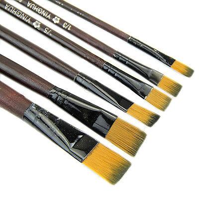 6Pcs Morden Nylon Acrylic Oil Paint Brushes For Art Artist Supplies Watercolor