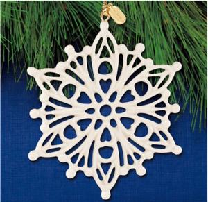 Lenox Christmas Snow Fantasies Snowflake Ornament New Dated 2020 889964