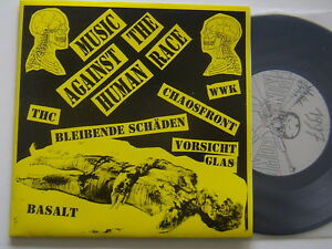 """Music against the human race - 7"""" - punk-EP: chaos Front, attention verre, thc, basalte"""