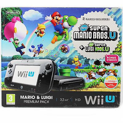 Nintendo Wii U-Konsole- Mario & Luigi Pack-New Super Mario Bros. Wii - 32 GB OVP