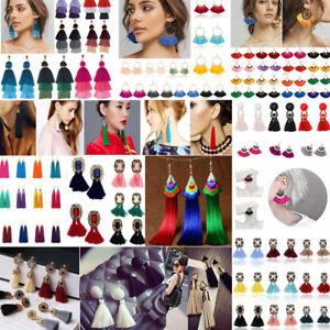 Women-Vintage-Long-Tassel-Fringe-Boho-Dangle-Earrings-Fashion-Bohemian-Earrings