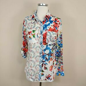 Desigual-Donna-Superdry-S-Floreale-Snap-Bottoni-Camicia-manica-lunga-art-vivace