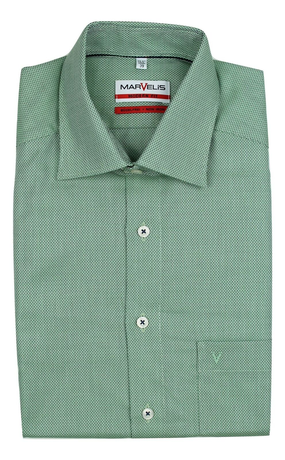 Green Mix Textured Spread Collar