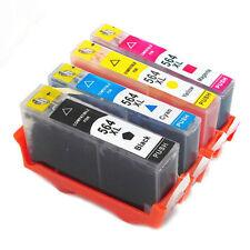 4 Pk Ink Cartridge For HP 564XL Deskjet 3522 3526 3521 3520 e-All-in-One Printer