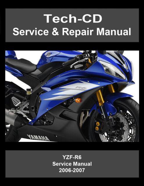 2006 2007 yamaha yzf r6 600 r 6 series maintenance repair manual rh ebay com 2008 R6 2006 R6