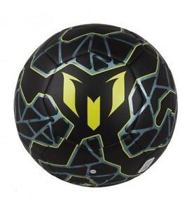 ADIDAS MESSI Q3 SOCCER BALL SIZE 5 Black   Bright Yellow   Matt Ice ... 35444bd663550