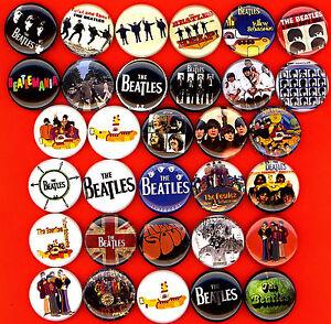 The-Beatles-x-32-button-pin-badge-John-Paul-George-Ringo-Yellow-Submarine