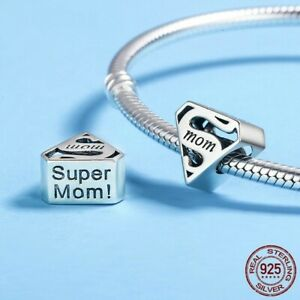 My Product Super Mom Charm 925 Sterling Silver