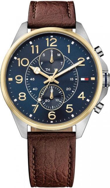 2fdca3e8a4c9 Reloj de Hombre TOMMY HILFIGER DEAN THW1791275 Multifunción Cuero Brown Azul