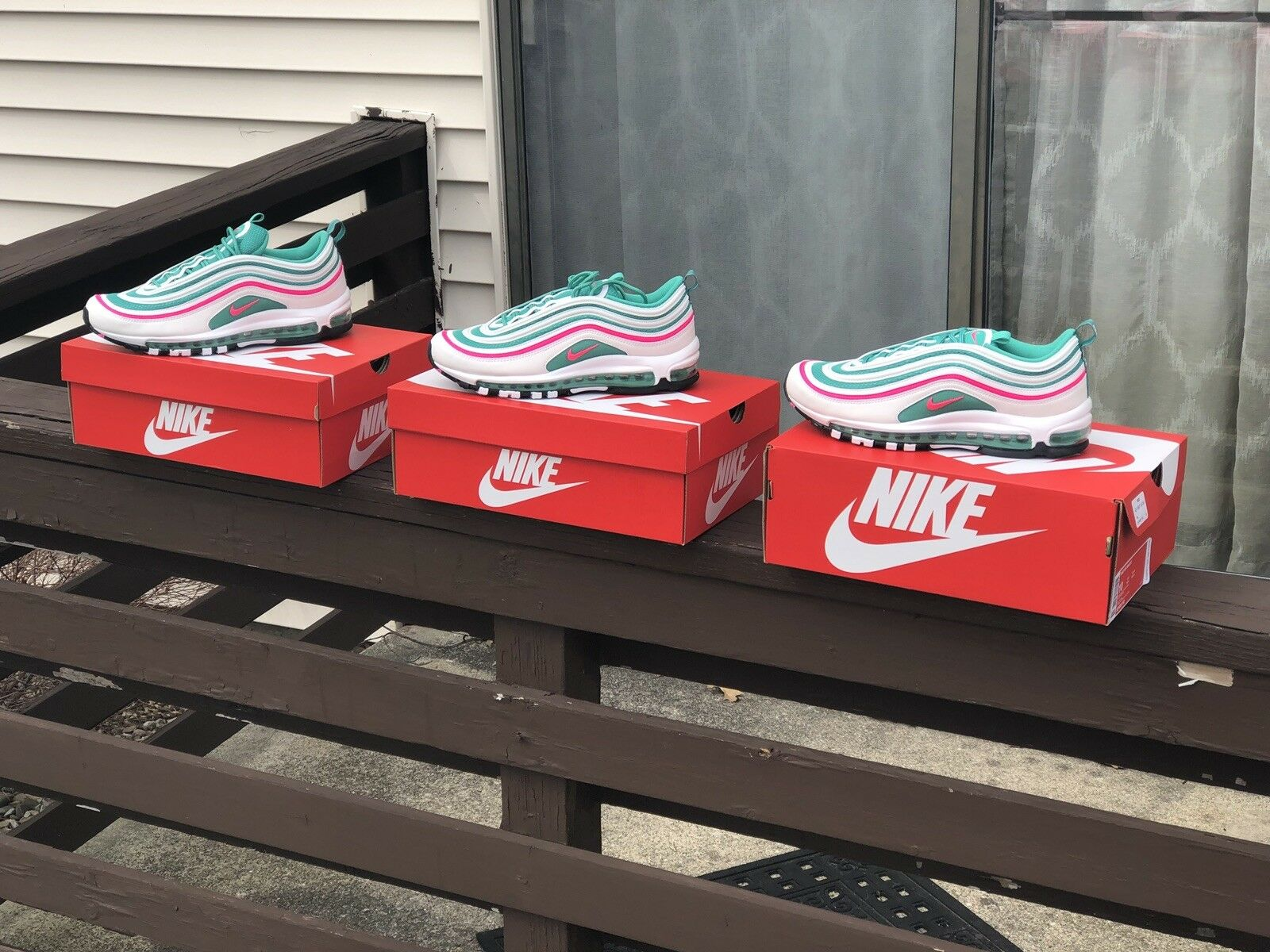 2018 Nike Air Max 97 South Beach Miami OG QS 921826-102 Sz 10, Yeezy boost 350